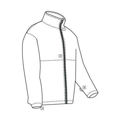 MICRO FLEECE hoodie COYOTE ECWCS