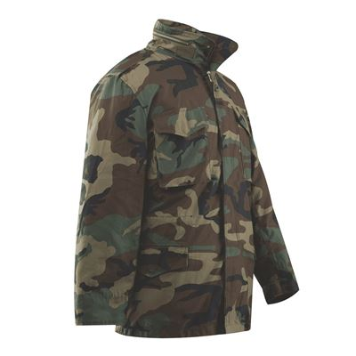 Jacket M65 with liner WOODLAND