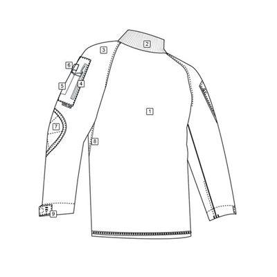 Tactical Combat Shirt rip-stop ACU DIGITAL