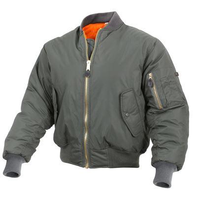 Enhanced Nylon MA-1 Flight Jacket SAGE