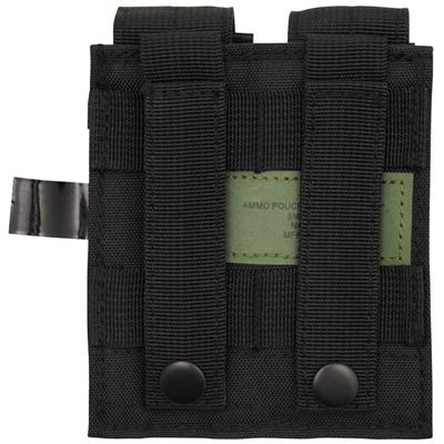 MOLLE double pouch for pistol magazines BLACK