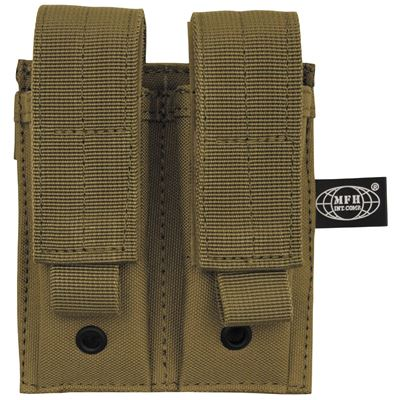 Pouch MOLLE Double the gun. stocks. COYOTE BROWN