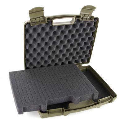 Pistol Plastic Case Pre-Cut Foam GREEN