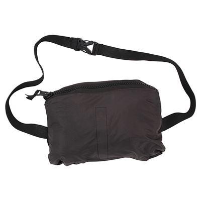 Lightweight waterproof jacket with hood BLACK