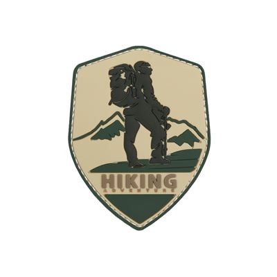 Patch HIKING ADVENTURE velcro FULLCOLOR