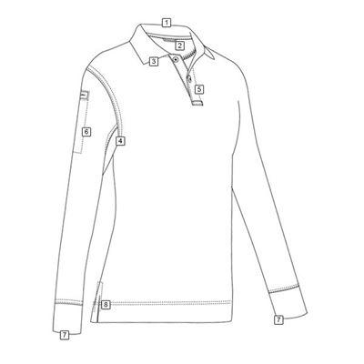 Polo womens long sleeve 24-7 PERFORMANCE SILVER TAN