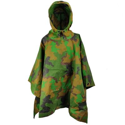Dutch jungle camouflage poncho used