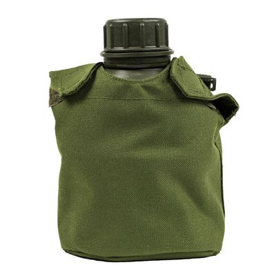 DANISH Plastic Bottle w/ Canteen Cup and GREEN cover