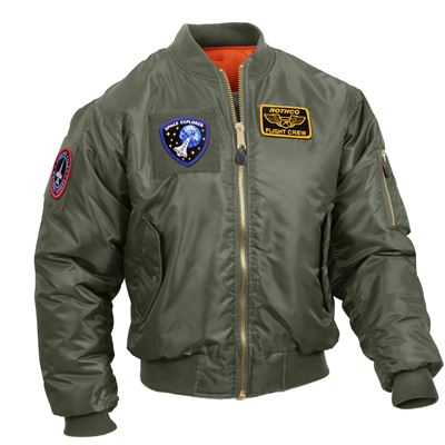 Jacket with patches MA1 FLIGHT SAGE GREEN