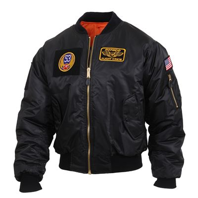 Jacket with patches MA1 FLIGHT BLACK