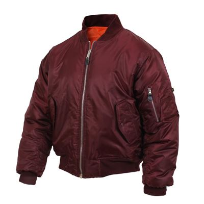 Jacket ULTRA FORCE MA1 FLIGHT MAROON