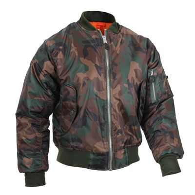 Jacket ULTRA FORCE MA1 FLIGHT WOODLAND