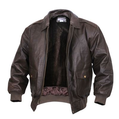 A2 leather jacket BROWN FLIGHT