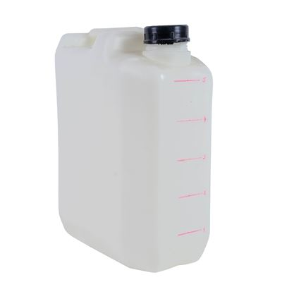 White plastic canister 5 liters used