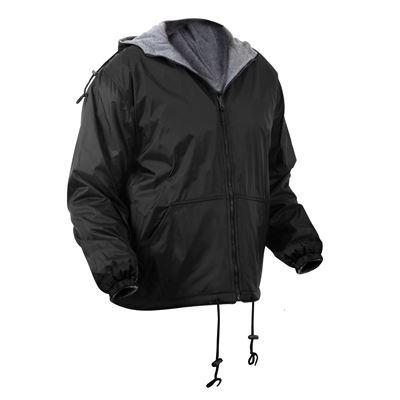Reversible hooded jacket BLACK