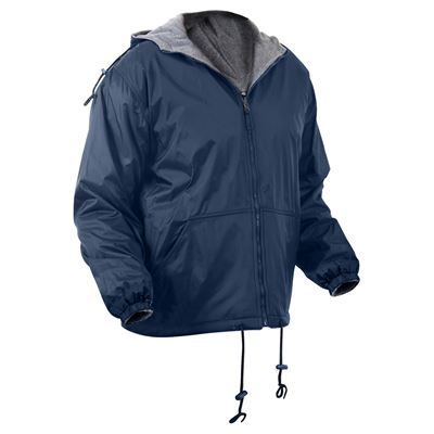 Reversible jacket with hood BLUE