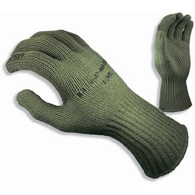 Thermolite ® knitted gloves USMC OLIVE