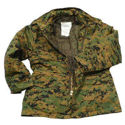 U.S. M65 jacket with liner DIGITAL WOODLAND