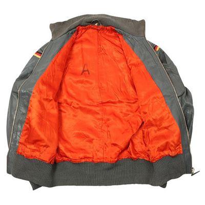 BW pilot leather jacket GRAY used