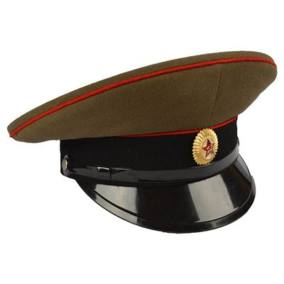 The Officers peaked cap RUSSIAN RED