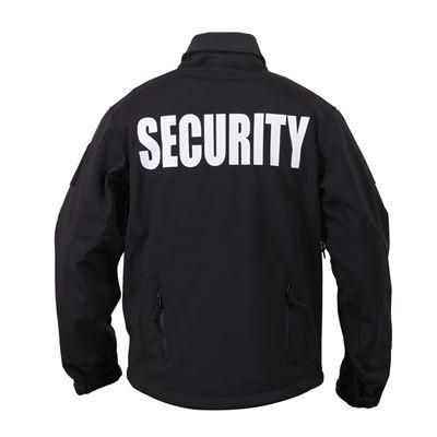 jacket softshell SECURITY hooded BLACK