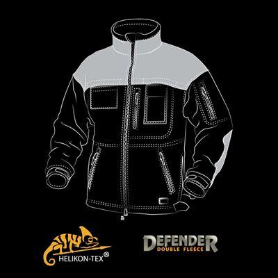 Jacket DEFENDER fleece BLACK