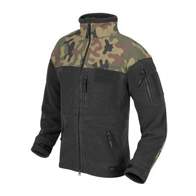 INFANTRY fleece jacket BLACK / WOODLAND PL