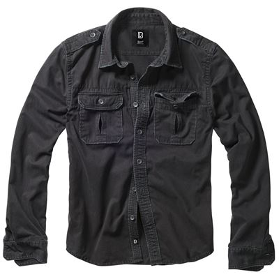 Shirt style VINTAGE long sleeve BLACK