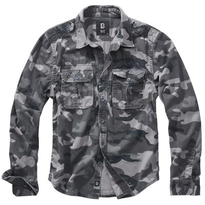 Shirt style VINTAGE long sleeve GREY CAMO
