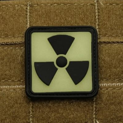 Patch H3 RADIOACTIVE plastic GLOW IN THE DARK lights