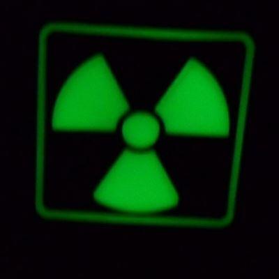 Patch H3 RADIOACTIVE plastic GLOW IN THE DARK dark