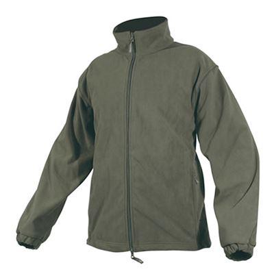 Fleece jacket with a waterproof membrane OLIVE