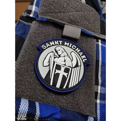 Patch SANKT MICHAEL velcro BLUE Line