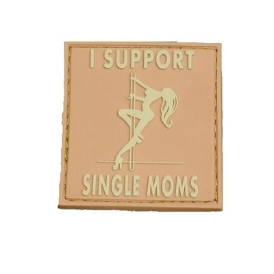 Patch I SUPPORT SINGLE MOMS velcro DESERT