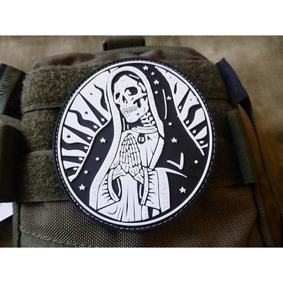 Patch SANTA MUERTE velcro BLACK/WHITE