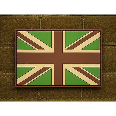 Patch GREAT BRITAIN flag plastic velcro large MULTICAM