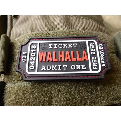 WALHALLA TICKET BEER rubber patch BLACK/RED
