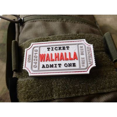 WALHALLA TICKET BEER rubber patch WHITE