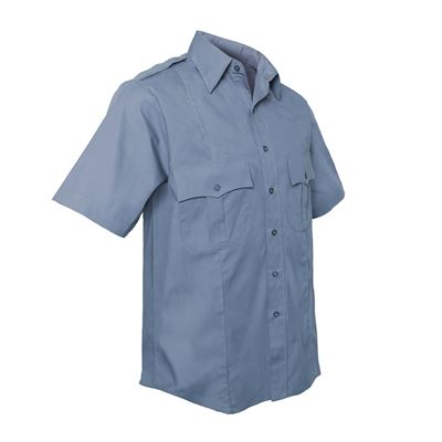 POLICE AND SECURITY shirt short sleeve light blue