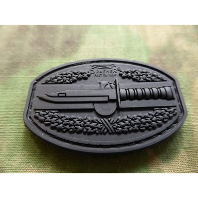 Plastic 3D Patch COMBAT ACTION Velcro BLACK