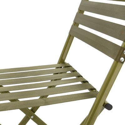 Folding chair with backrest ARMY NATURE